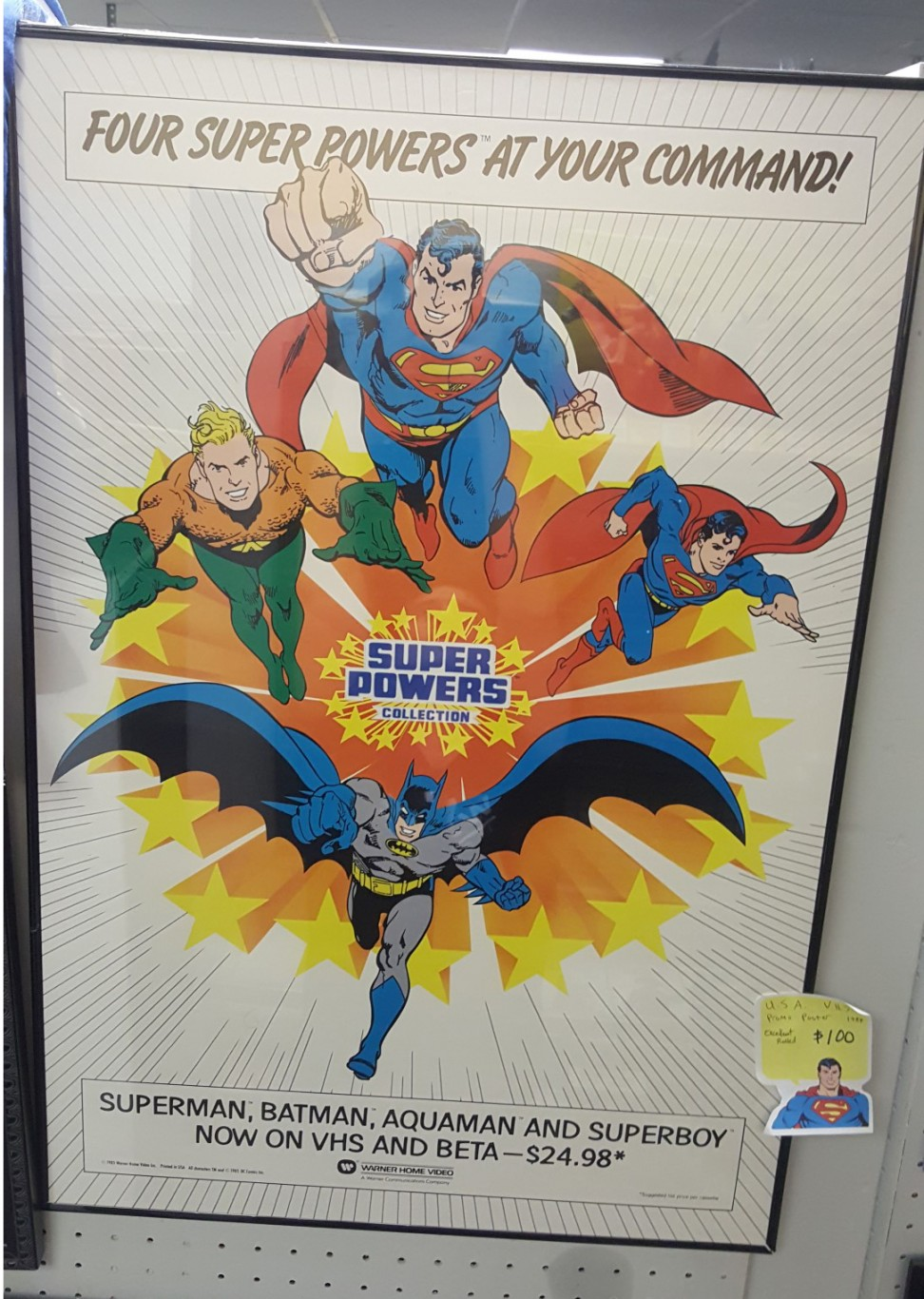 Super Powers VHS Promo Poster (US)