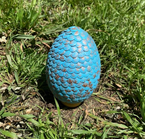 Copper and Blue Dragon Egg